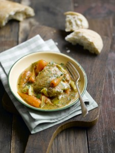 Chicken stew with leeks and Chantenay
